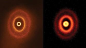 Captan inusual formación de anillos planetarios desde el observatorio ALMA