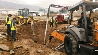 Los trabajos se realizan en la avenida Magnolias del fraccionamiento El Refugio.