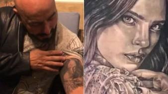 El cantante se tatuó a Belinda, durante su noviazgo el año pasado en La Voz México.