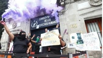 Reunión con Segob fue un triunfo: Feministas que tomaron CNDH;