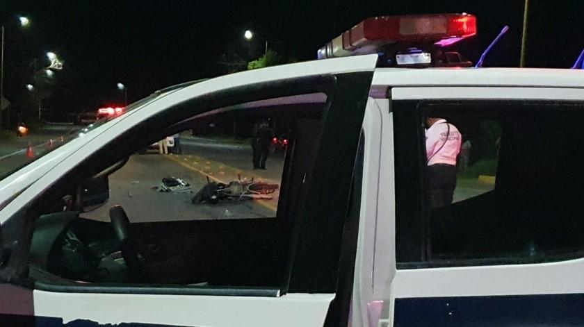 Mujer sin vida y lesionado por brutal accidente en Navojoa(Especial)