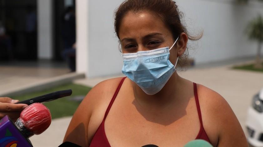 La madre de Edwin acudió el miércoles a las autoridades.(Sergio Ortiz)