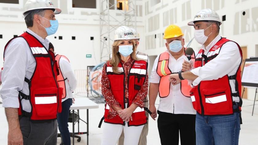 Jorge Ferrer, director de Insabi, indicó en reunión con Claudia Pavlovich que elPresidente de la República dio instrucciones para apoyar la culminación de este hospital en tierras sonorenses.