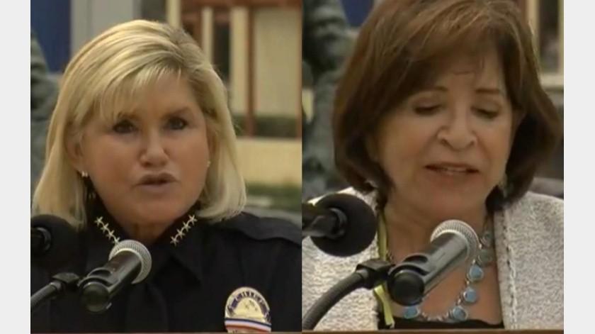 Roxanne Kennedy y la alcaldesa de Chula Vista, Mary Salas.(Cortesía)