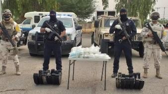 Decomisan 24 paquetes de droga dentro del Valle de Mexicali