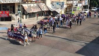 ¡Ni una sola más!: Marchan feministas contra violencia de género en Cajeme