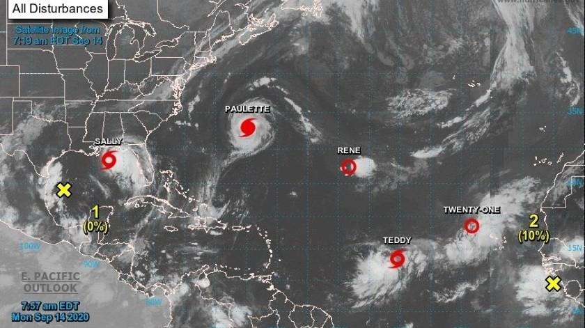 Huracán Sally se acerca al sureste de EU y Paulette se aleja de las Bermudas(EFE)
