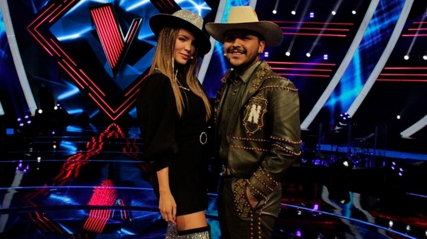 Christian Nodal y Belinda consolidaron su romance durante la más reciente temporada de La Voz México.(Tomada de la red)