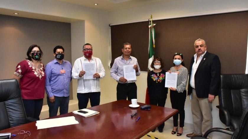 Firman condiciones generales de trabajo Poder Judicial y Sindicato de Burócratas(Cortesía)