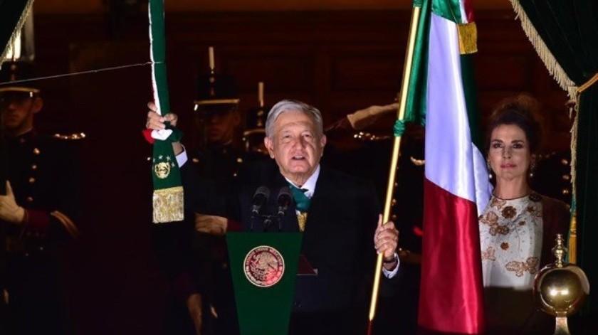 """AMLO da Grito de Independencia sin público por Covid-19 y con nuevos """"vivas""""(Presidencia de la República)"""