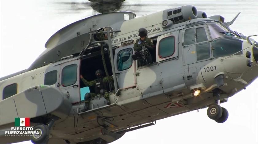 Fueron las soldados Miriam Martínez y Karla Pérez las encargadas de conducir la aeronave tipoTexan T6-C.