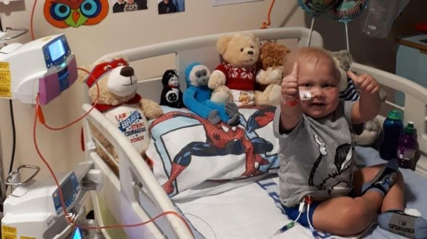 Josh tenía menos de un año cuando le diagnosticaron la afección por primera vez.(Kirsty Knighton)