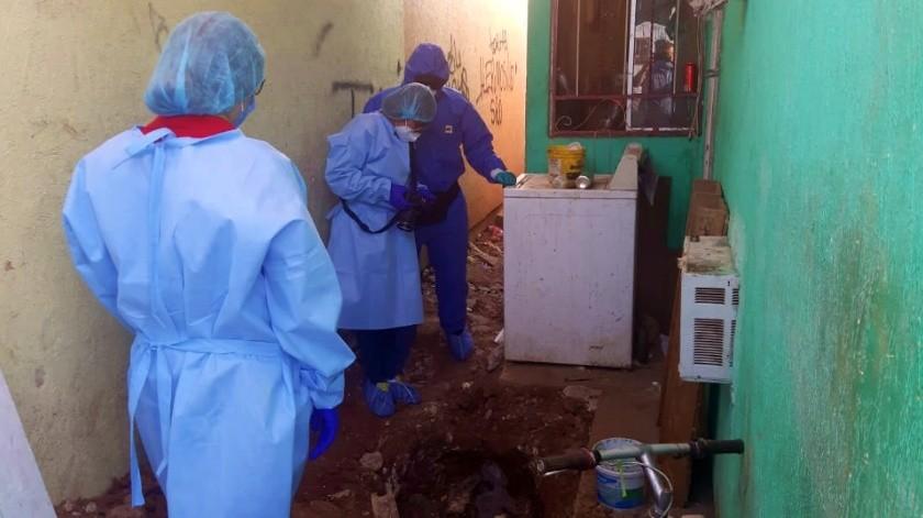 La osamenta de la víctima fue trasladada al Laboratorio de Inteligencia Científica Forense (CIF) de la FGJE.