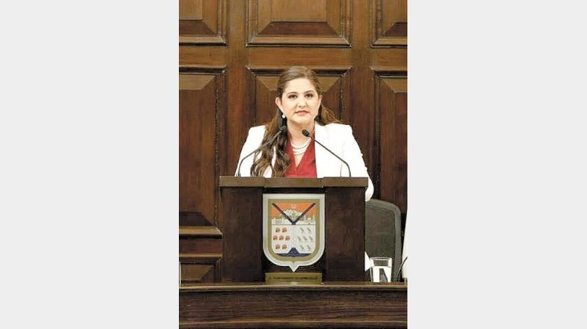 La alcaldesa Célida López Cárdenas da su mensaje en el Segundo Informe de Gobierno.(Archivo)