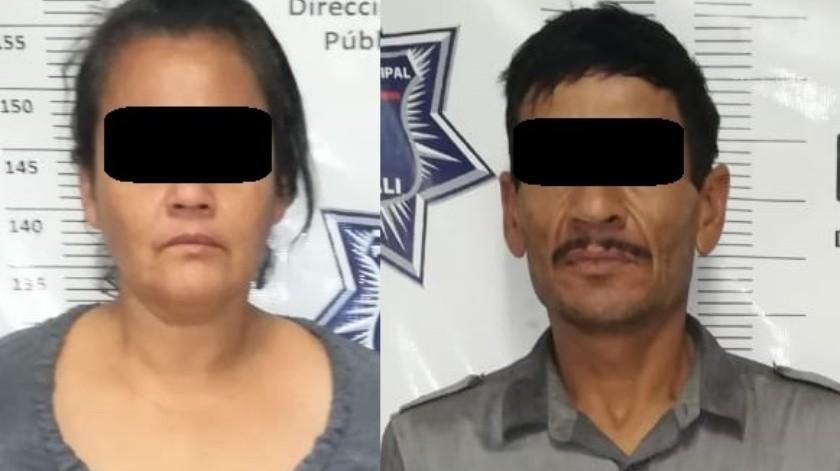 Detienen a pareja con droga en el 43(Cortesía)