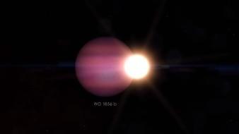 El posible planeta fue nombrado por los científicos como llamado WD 1856 b y es siete veces más grande que la enana blanca a la que orbita, nombrada WD 1856+534,