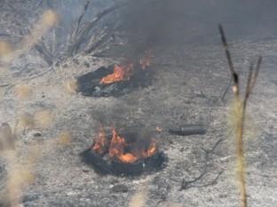 Tres lesionados en incendio de Valle de las Palmas