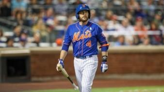 Jed Lowrie nunca pudo jugar un partido completo con los Mets.