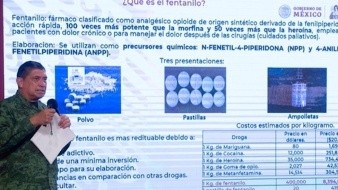 Luis Cresencio Sandoval, secretario de la Defensa Nacional, expuso sobre el ingreso de fentanilo en México.