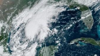 Muestra de la localización de la depresión tropical Veintidós este viernes a las 10:46 hora local (14:46 GMT)