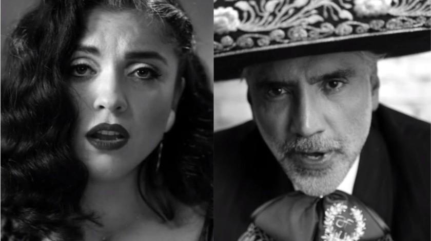 """Mon Laferte incursiona con los ritmos rancheros y mariachis de la mano de """"El Potrillo"""".(Tomada de la red)"""