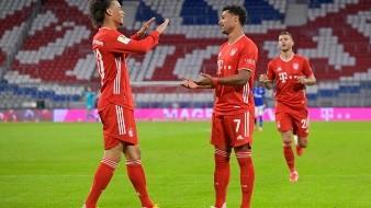 Leroy Sané y Serge Gnabry lucieron con el Bayern Munich