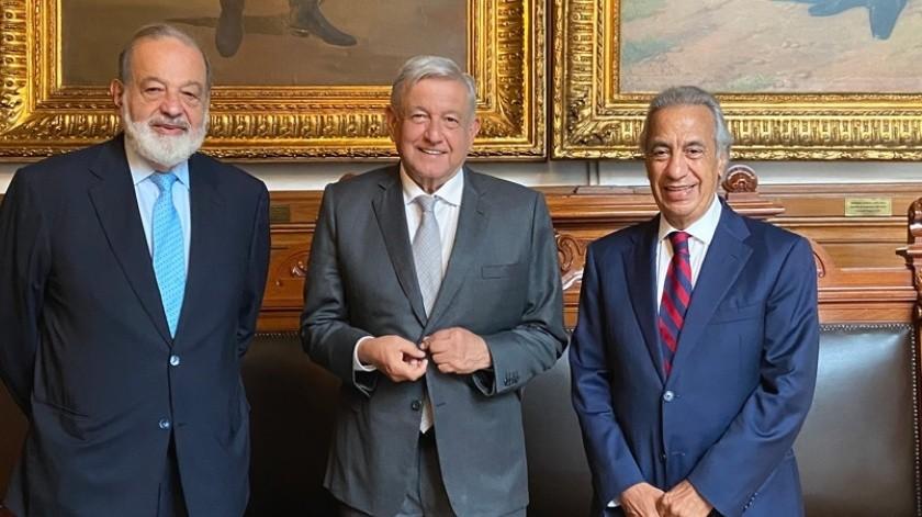 Nadie es más que otro y no todo el que tiene es malvado: AMLO tras reunión con Carlos Slim y Miguel Rincón(Twitter @lopezobrador_)