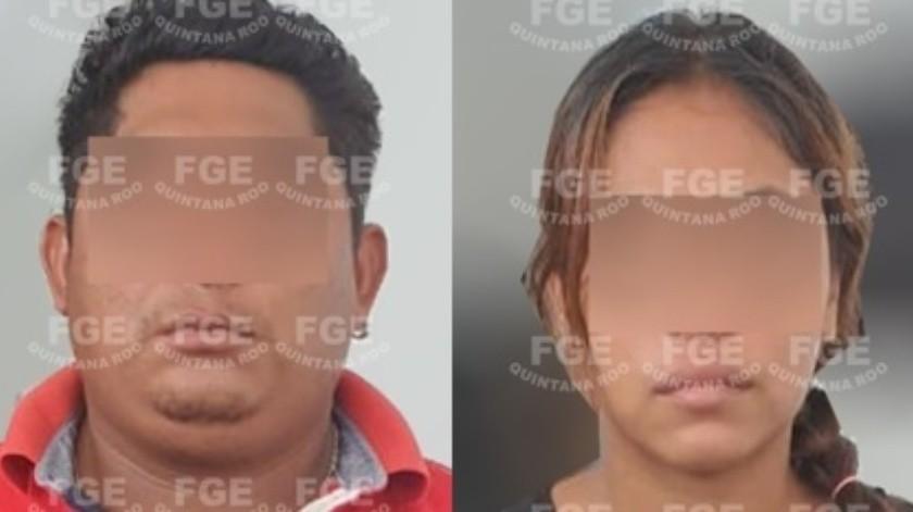 Detienen a pareja por feminicidio de niña de 5 años en QR; la asesinaron a golpes(Fiscalía General del Estado de Quintana Roo)