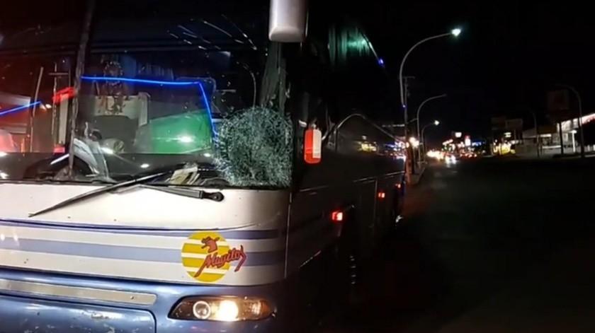 El chófer del autobús continuó su camino hasta la ciudad, tras el accidente en la carretera(Especial)