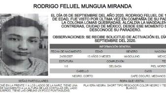 Rodrigo Feluel es de complexión delgada, piel morena clara, mide 1.60 metros de estatura, tiene ojos medianos, color café oscuro y cabello corto y lacio.