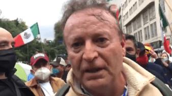 Lozano es uno de los que integran el movimientoFrente Nacional Anti-AMLO (Frenaa), y este sábado participó en una marcha.