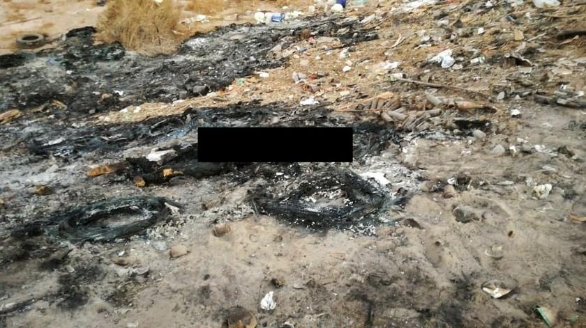 Hallan cadáver calcinado en basurero del ejido Chiapas II(Cortesía)