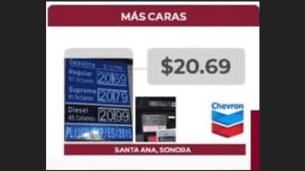 Santa Ana alberga la gasolinera con los precios más elevados a nivel nacional en la gasolina Premium.