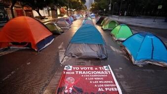 CDMX no evacuará a manifestantes acampados contra AMLO, asegura Sheinbaum