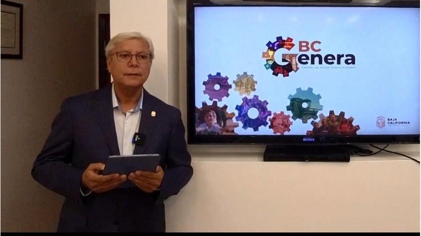 Jaime Bonilla le responde a José Guadalupe Osuna Millán.(Imagen tomada de video)