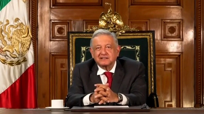 """""""No hay hambre en México"""": AMLO participa en sesión virtual de la ONU y habla de la 4T(Captura de pantalla)"""