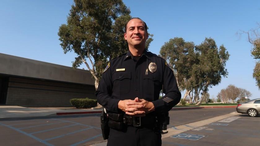 Rubén Gutiérrez, agente de la Policía de San Diego.