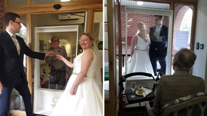 Una novia viajó más de 300 kilómetros para mostrarle a su abuelo su vestido de casamiento.(Metro)
