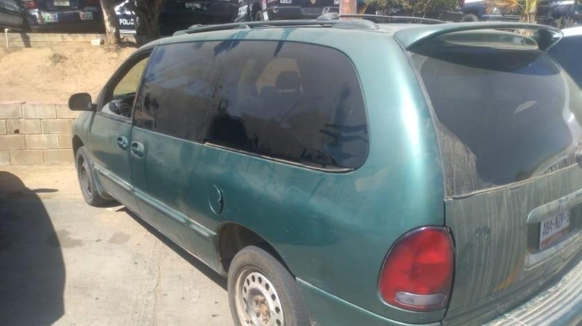 Recuperan auto robado en Tecate(Cortesía)