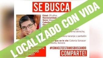 Ubican con vida a Ismael Mondragón Fuentes, quien estaba desaparecido