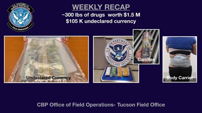 El aseguramiento fue realizado por agentes de la Aduana estadounidense.