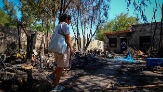 Sospechan homicidio en incendio donde murió pareja al oriente de Mexicali