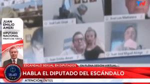 El diputado del Frente de Todos (oficialismo) por la provincia de Salta, Juan Ameri, estaba en pleno debate de una ley al momento del incidente.