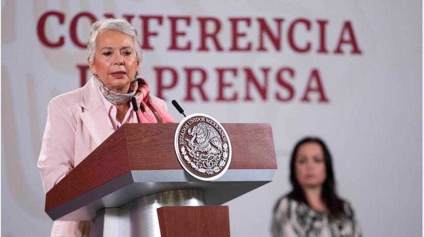 López Obrador agregó que es la primera vez que una mujer está al frente de la Secretaría de Gobernación.(Archivo GH)