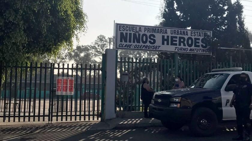 La primaria Niños Héroes se localiza en la colonia Francisco Villa.(Khennia Reyes)
