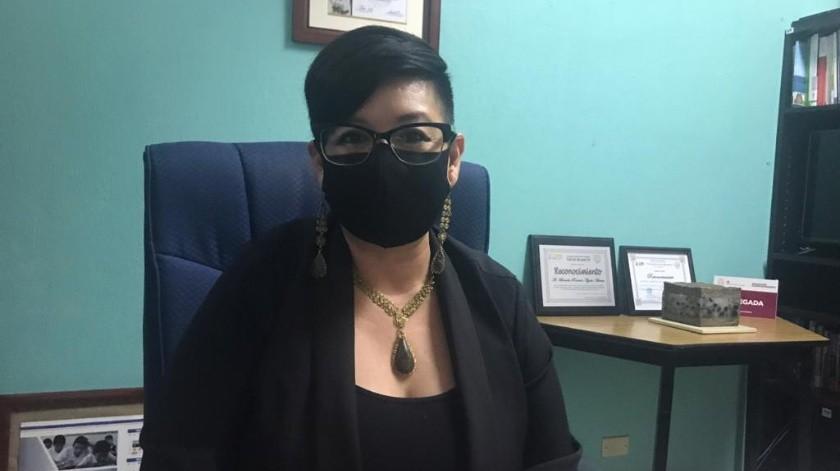 Brenda Ayala Arenas, delegada de la Secretaría de Educación en Rosarito.(Carmen Gutiérrez)