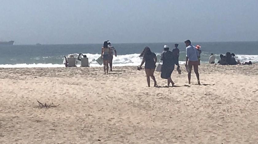 Este fin de semana se reforzará la vigilancia en la playa.(Carmen Gutiérrez)