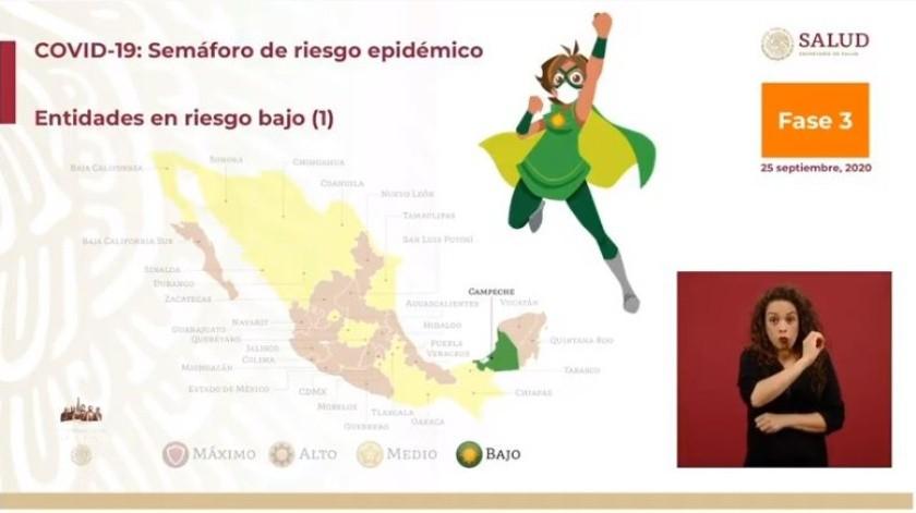 Semáforo Covid en México: Campeche, el primer estado en pasar a color verde(Especial)