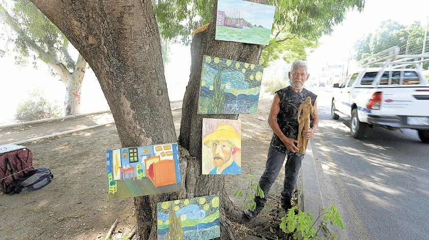 Jorge Arturo Cruzi quiere que se reconozca el verdadero valor del arte.(Anahí Velásquez)