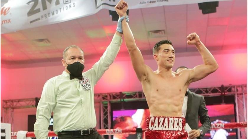 "!Va por ""Canelo""! Después de vencer a Chávez Jr., Cázares quiere a Álvarez(Instagram @2mboxpromotions)"